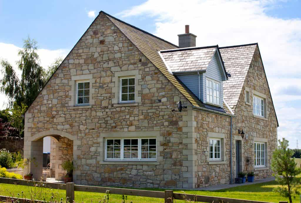 Stone-Clad Timber Frame