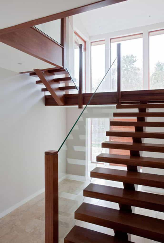 Open Tread Glass Staircase