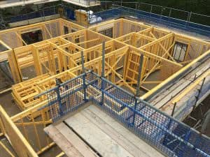 timber frame erection