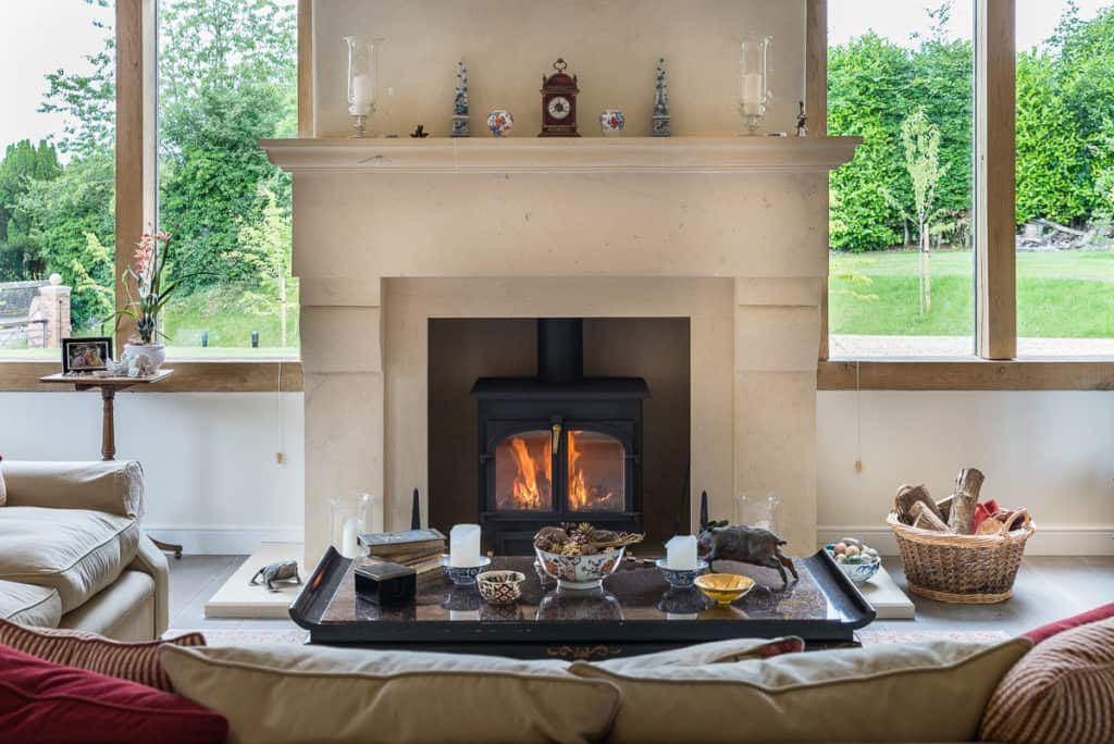 Fireplace With Wood Burning Stove