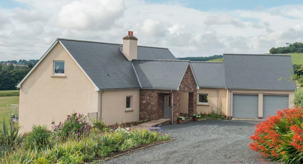 House Set Into Hillside