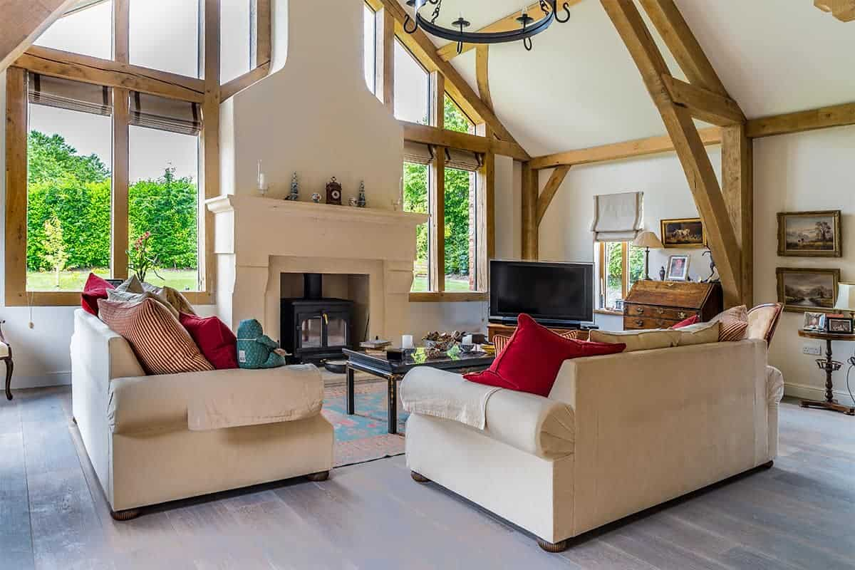Oak Frame Home Living Room