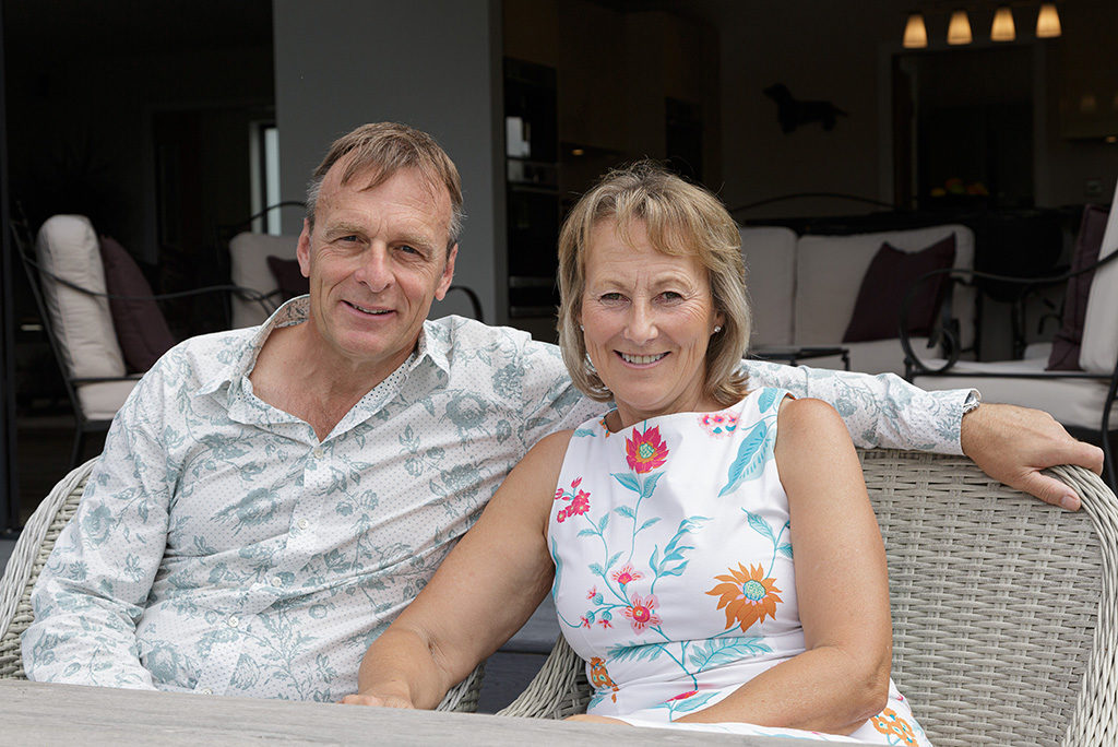 A couple who have run a successful self build home project